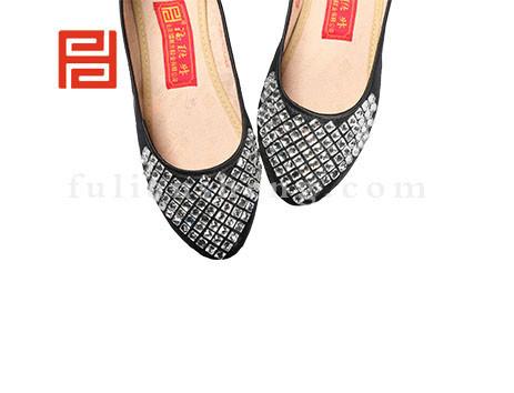 福联升布鞋女鞋FJB-511352黑色销售中图片