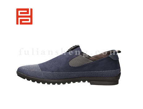 福联升布鞋男鞋FLA-502161蓝色销售中图片