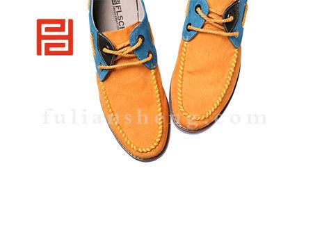 福联升布鞋男鞋FLA-512015桔黄销售中