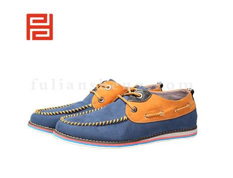 福联升布鞋男鞋FLA-512015蓝色销售中