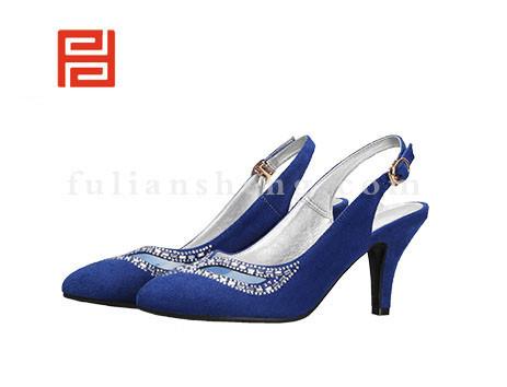 福联升布鞋女鞋FLB-522270宝蓝销售中