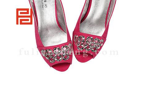 福联升布鞋女鞋FLB-522272玫瑰红销售中图片