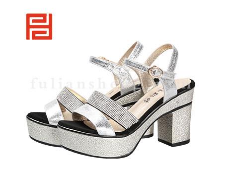 福联升布鞋女鞋FLB-532158银白销售中