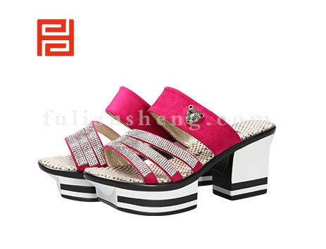 福联升布鞋女鞋FLB-532168玫瑰红销售中