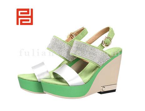 福联升布鞋女鞋FLB-532176绿色销售中