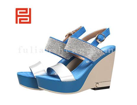 福联升布鞋女鞋FLB-532176蓝色销售中