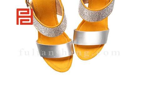 福联升布鞋女鞋FLB-532176黄色销售中图片