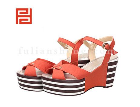 福联升布鞋女鞋FLB-532178桔红销售中