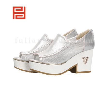 福联升布鞋女鞋FLB-532186银白销售中
