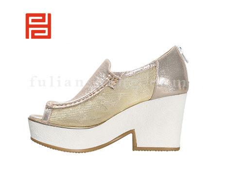 福联升布鞋女鞋FLB-532186香槟色销售中