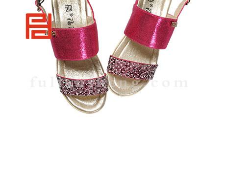 福联升布鞋女鞋FLB-532228玫瑰红销售中图片