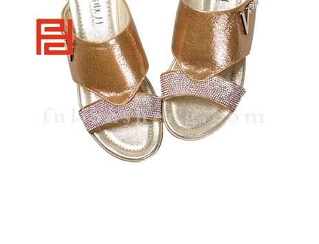 福联升布鞋女鞋FLB-532230金黄销售中图片