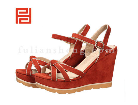 福联升布鞋女鞋FLB-532256桔红销售中