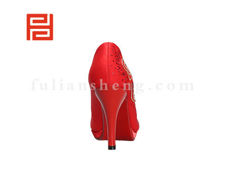 福联升布鞋女鞋FLB-549228红色销售中图片